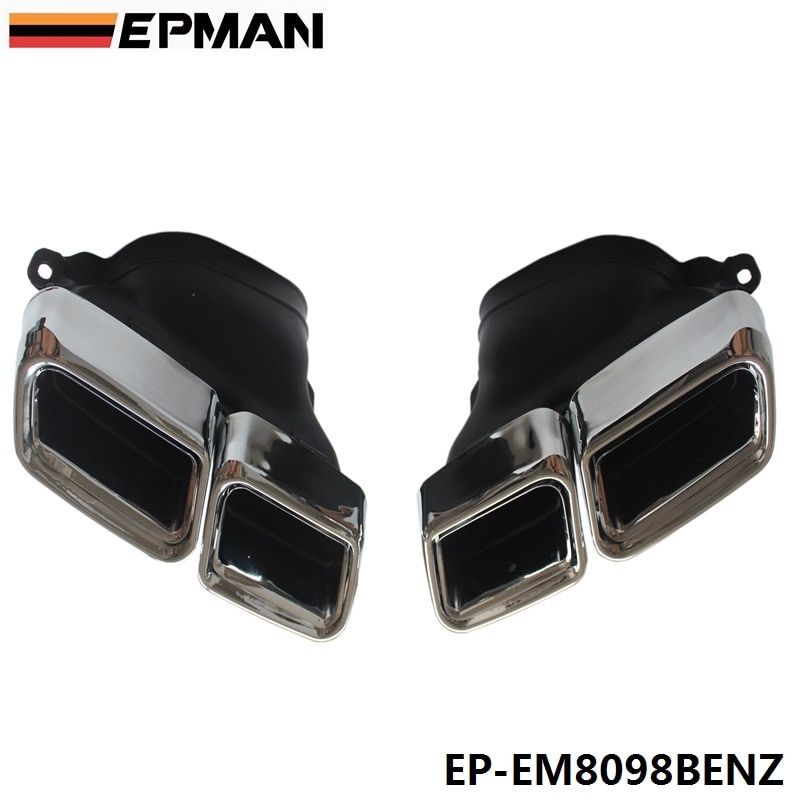 Chrome 304 Stainless Steel For Mercedes-Benz AMG S65 S63 E63 Exhaust Muffler Tips W222 W212 W205 R231 W218 EP-EM8098BENZ