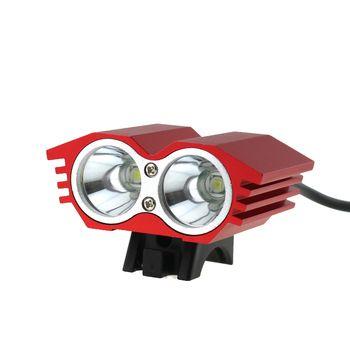 4.2V-8.4V USB Cycling Bike headlight 2x CREE XM-L T6 LED 5000 lumen Mountain Front Bicycle light Headlamp 4 Modes
