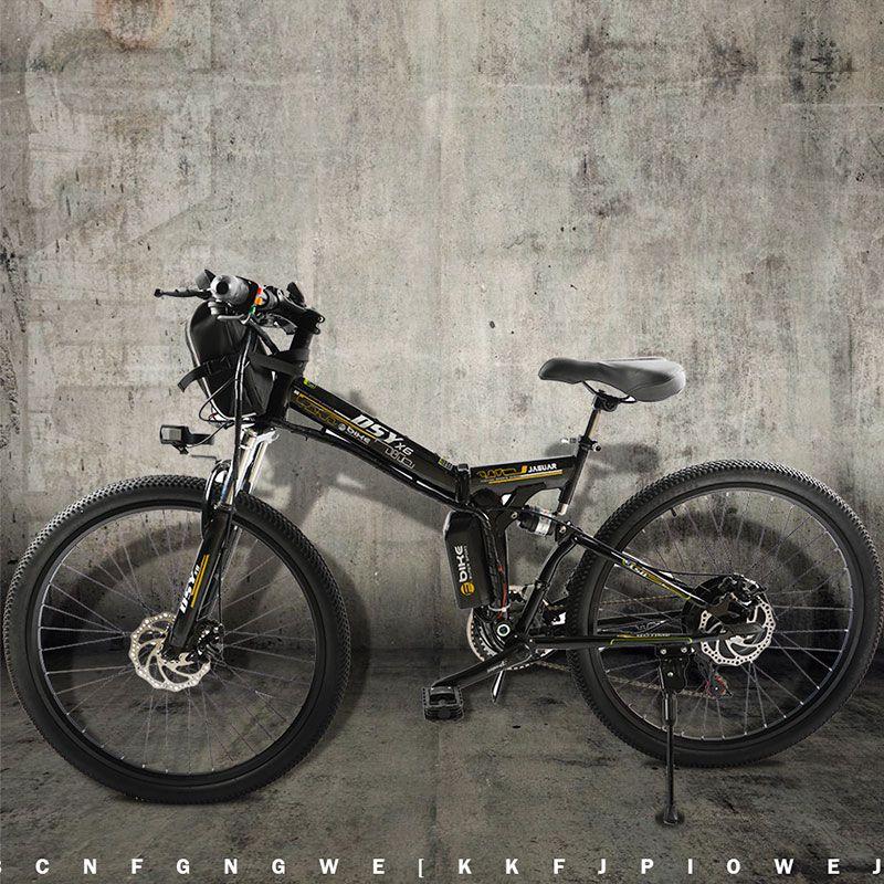 Electric Bicycle Powerful Electric Bike front bag 48V 12AH 500W mountain eBike 24 Speed Electric Bike Russia free shipping