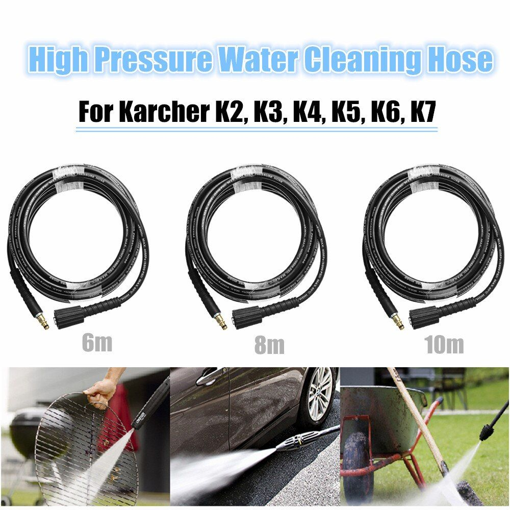 6m/8m/10m High Pressure Water Cleaning Hose Pure Copper for Karcher K2 ~ K7 High Pressure Washer