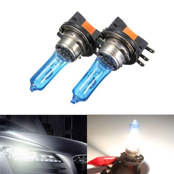 2x H15 Xenon Bulb 12V 55W HeadLight Lamp DRL For HID 6000K Blue Glass Car Light Super White  For AUDI/VW/GOLF