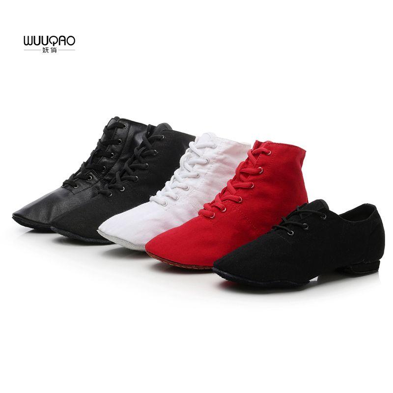 Для женщин Для мужчин Джаз Обувь для танцев Кружево до Сапоги и ботинки для девочек Детская Джаз тапки Обувь для танцев холст или Кожи Джаз С...