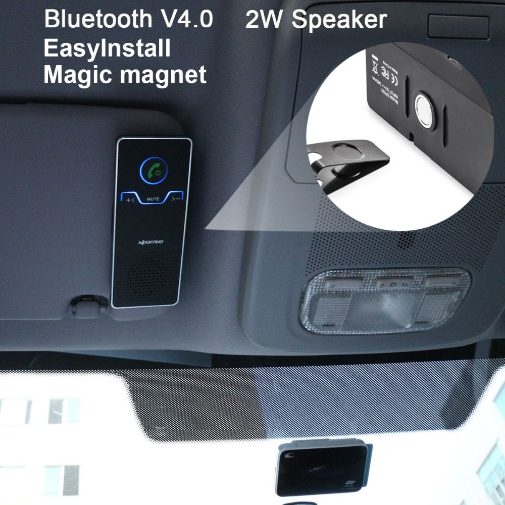 Siparnuo Aux Bluetooth Kit voiture pare-soleil mains libres haut-parleur avec USB Bluetooth Voicture Kit mains libres