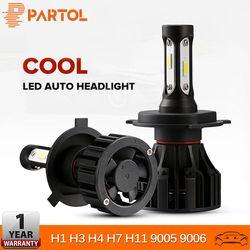 Partol H4 H7 H11 H1 9005 9006 H3 автомобиля светодиодные противотуманные свет фар лампы Hi Lo луча 72 W 8000LM автомобильные фары свет 6500 K 12 V