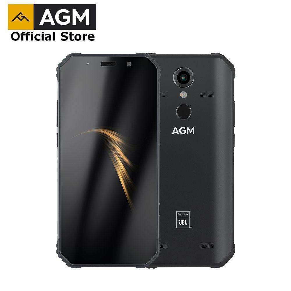 AGM officiel A9 JBL co-marquage 5.99 FHD + 4G + 64G Android 8.1 téléphone robuste 5400 mAh IP68 étanche Smartphone Quad-Box haut-parleurs