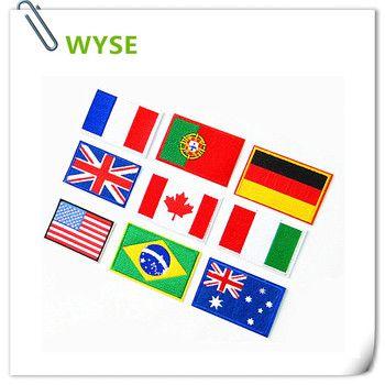 6 pcs National pays Drapeau/bannière vêtements patches fer sur brodé Patchs autocollants pour jeans Vêtements Applique Motif Badge