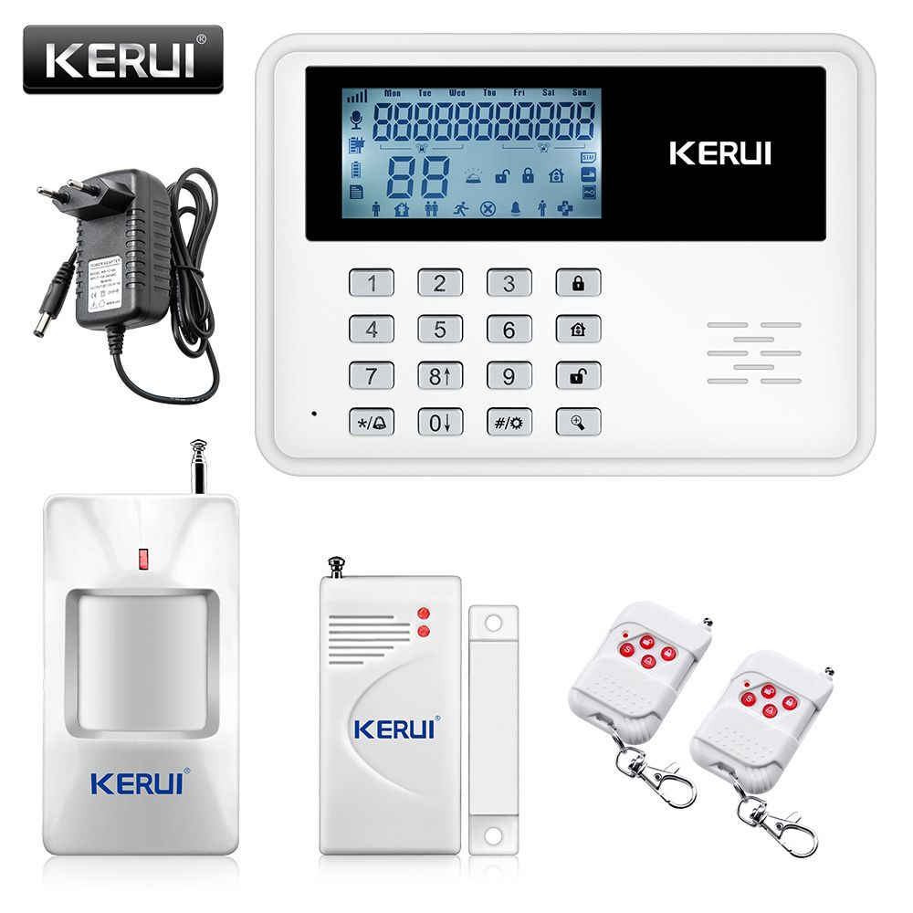 2017 KERUI 5900G intelligent Android IOS app <font><b>remote</b></font> control Wireless Home Security SIM SMS GSM Alarm System Kit+large LCD screen