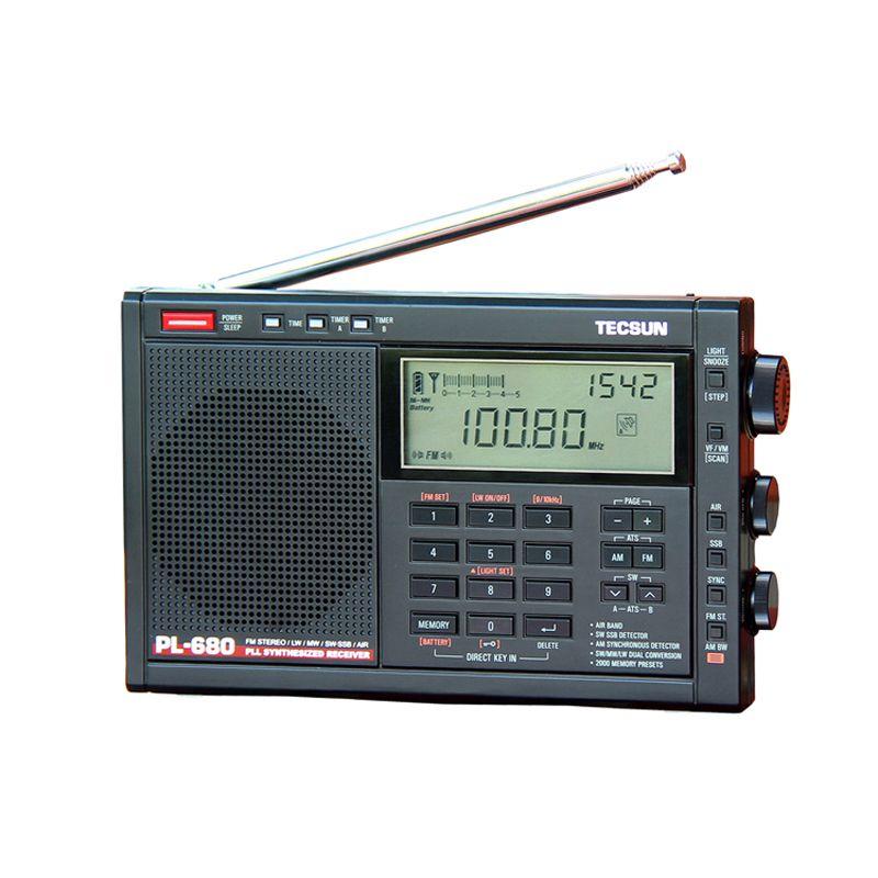 Lusya Tecsun PL-680 High Performance Full Band Digital Tuning Stereo Radio FM AM Radio SW SSB
