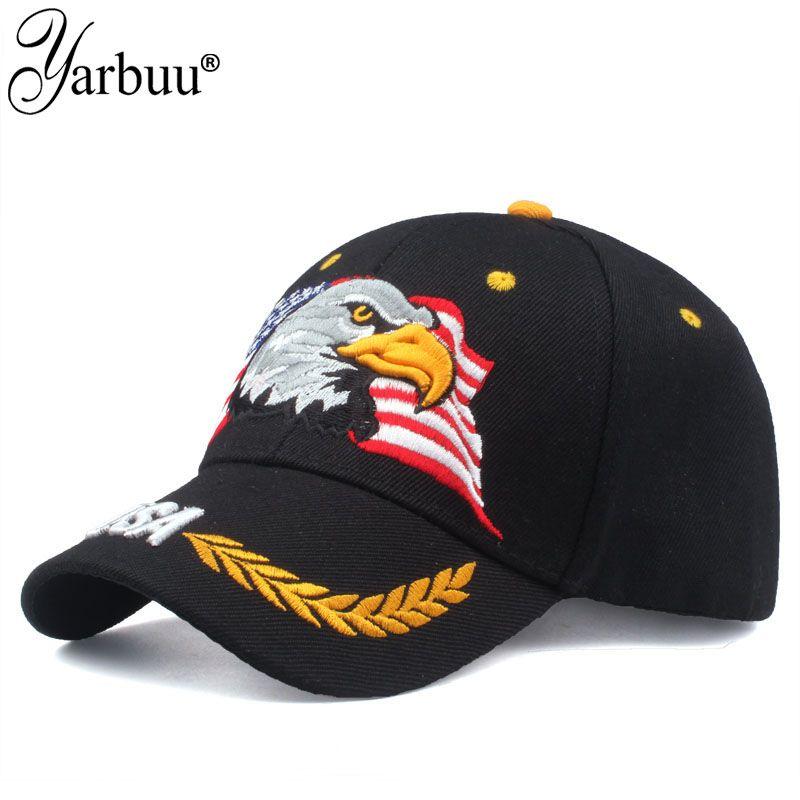 [YARBUU] haute qualité USA drapeau casquette de Baseball hommes femmes aigle Snapback papa chapeau os extérieur décontracté soleil Golf chapeau camionneur casquette Gorras