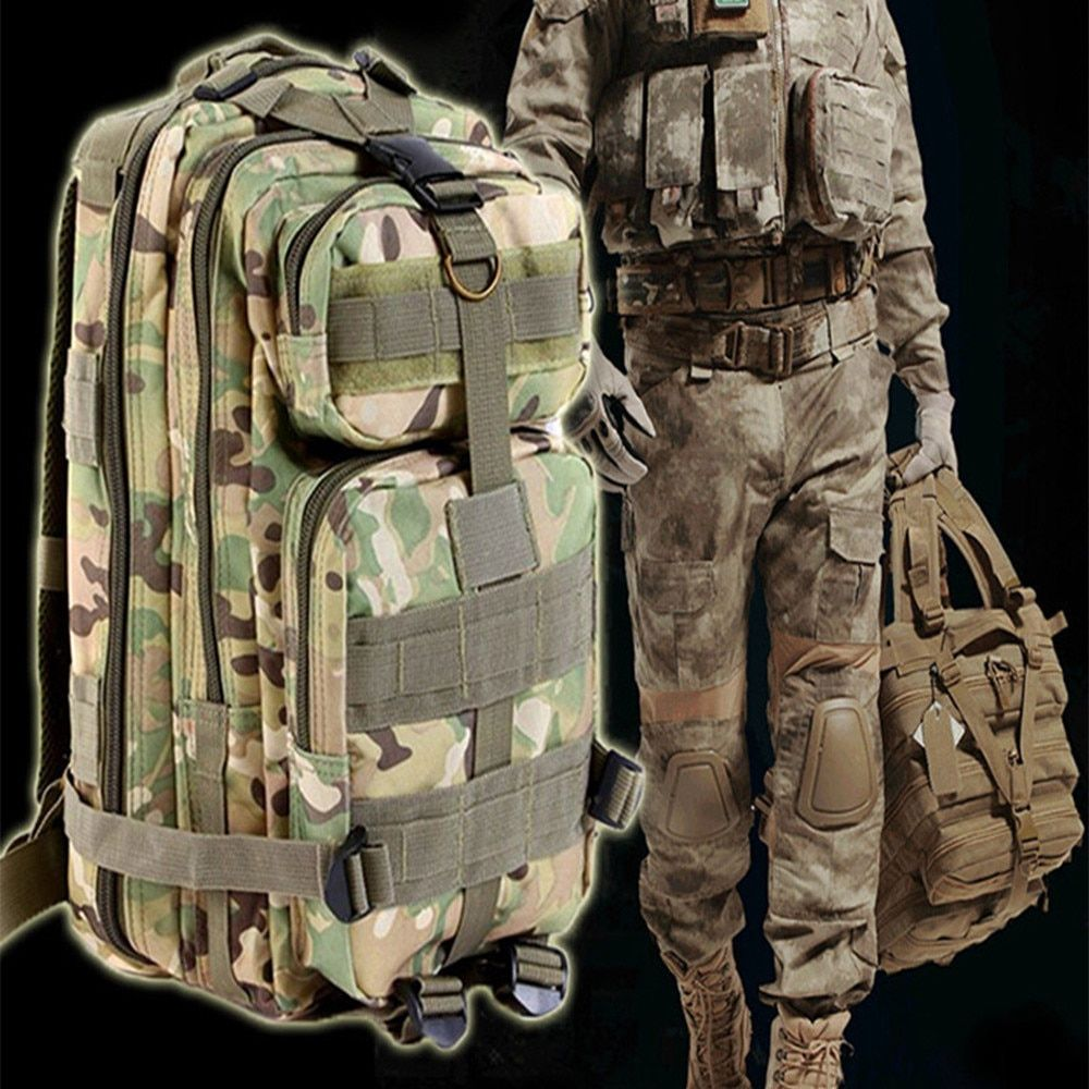 9 color 3P Outdoor Tactical Backpack 30L Military bag <font><b>Army</b></font> Trekking Sport Travel Rucksack Camping Hiking Trekking Camouflage Bag