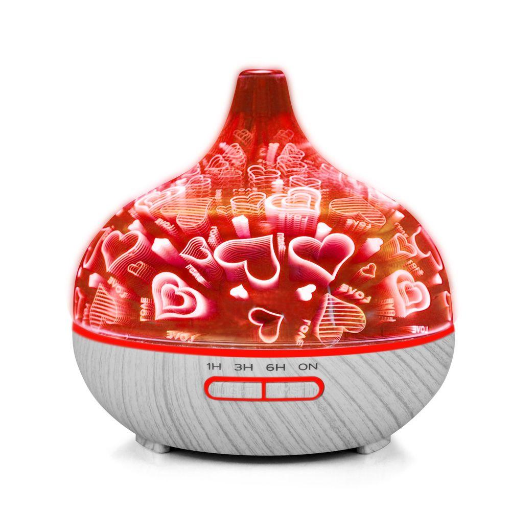 400ml Mini Air Humidifier for Home Essential Oil Diffuser Humidificador Mist Maker 7Color LED Aroma Diffusor Aromatherapy