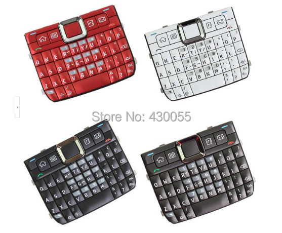 White/Black/Red/Grey New Housing Home Function Main Keypads Keyboards Buttons Cover For Nokia E71 , Free Shipping