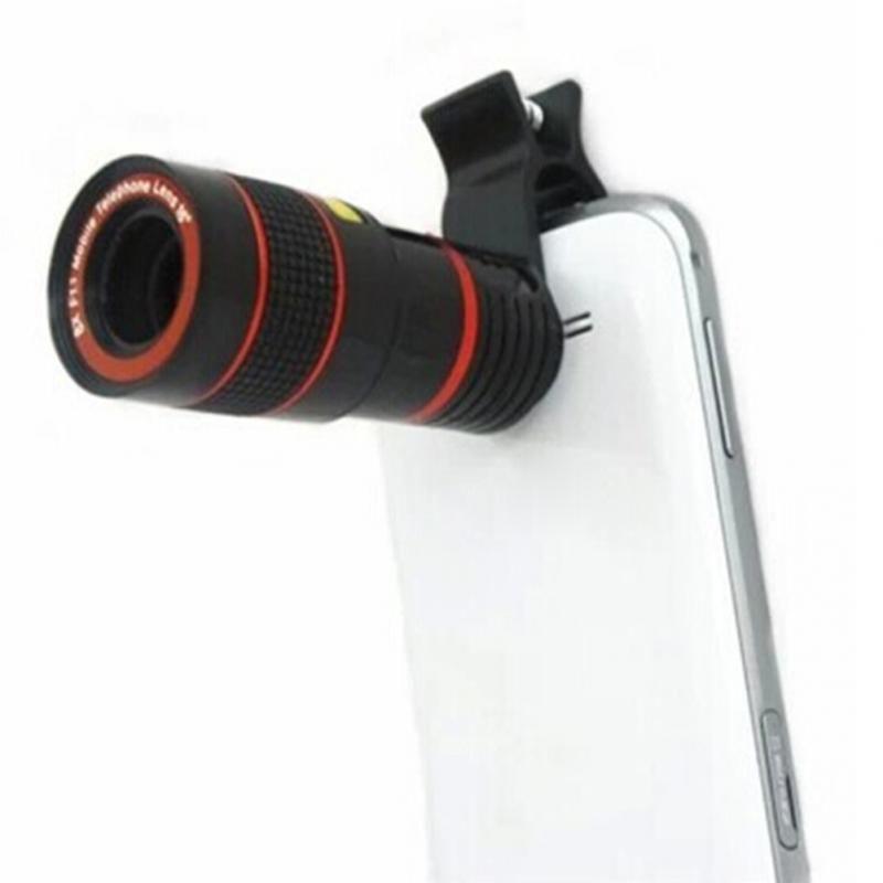 New Universal 8X/12X Optical Zoom Telescope Camera Lens Clip Mobile Phone Telescope