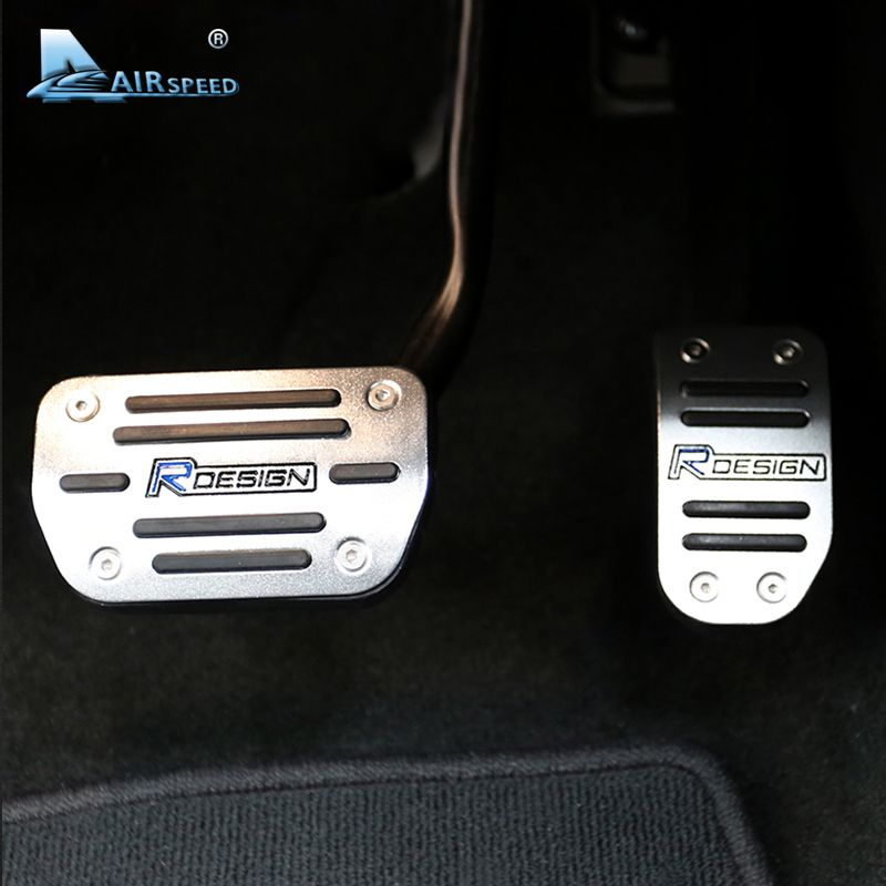 Airspeed RDESIGN Car Footrest Accelerator/Brake Pedal Cover Set for Volvo XC60 S60 S60L V60 S80 S80L No Drilling Car Accessories