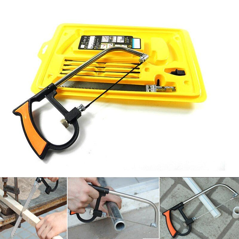 8 in 1 Magic Saw Multi Purpose Hand DIY Steel Saw For Metal Wood Plastic Saw Kit With 6 Blades Woodworking Metalworking