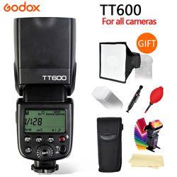 Godox TT600 2,4g Speedlite inalámbrico maestro/esclavo Flash con sistema de disparador incorporado para Canon Nikon Pentax Olympus Fuji SONY