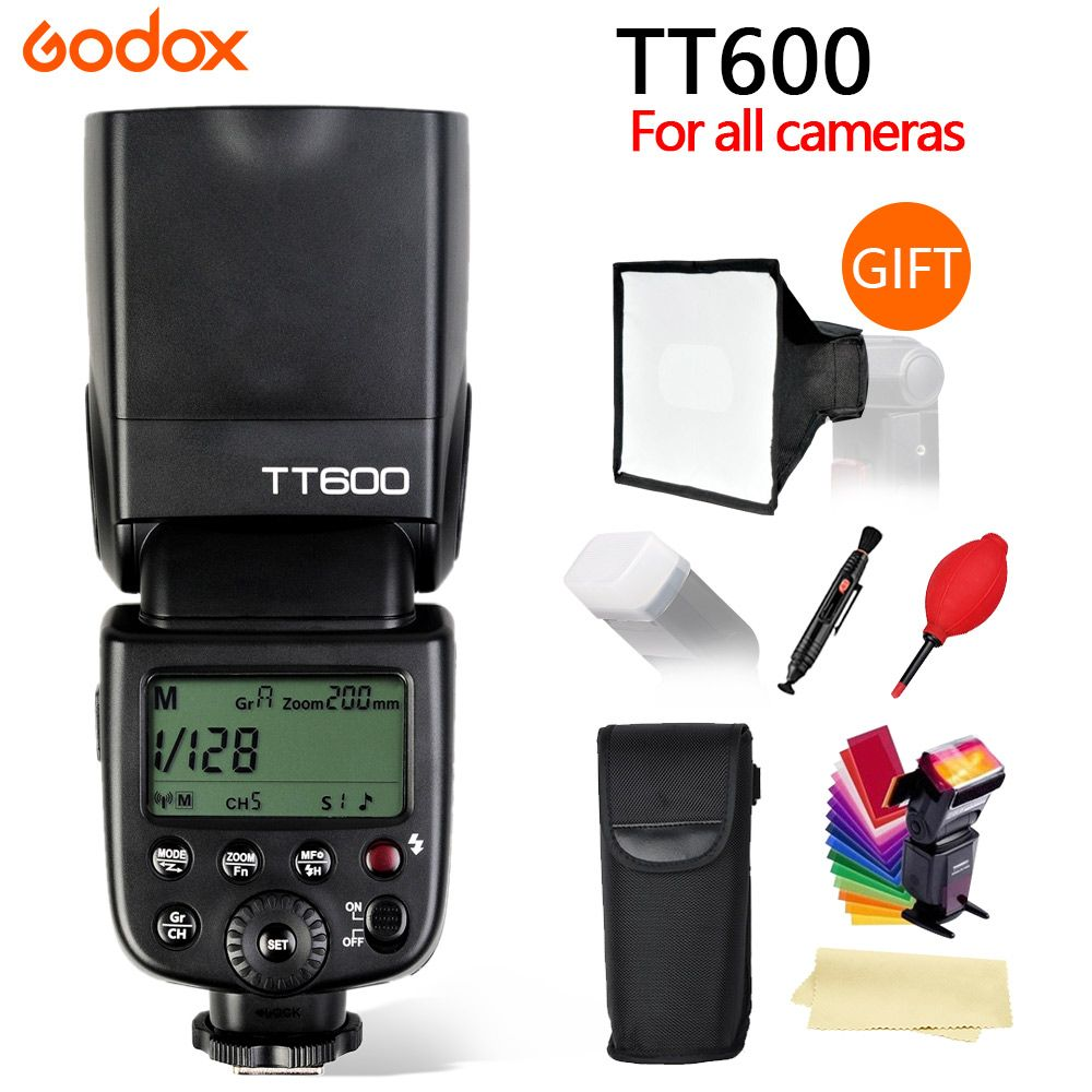 Godox TT600 GN60 2.4G Wireless camera Flash speedlite with Built-in Trigger System for Canon Nikon Pentax Olympus Fuji SONY