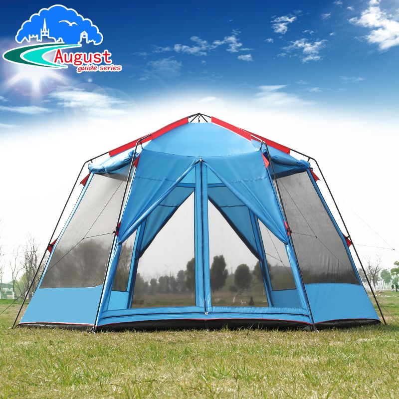 UV 8 10 12 Person 2 Layer Anti Rain Mosquito Proof Awning Gardern Pergola Family Beach Sun Shelter Fishing Outdoor Camping Tent