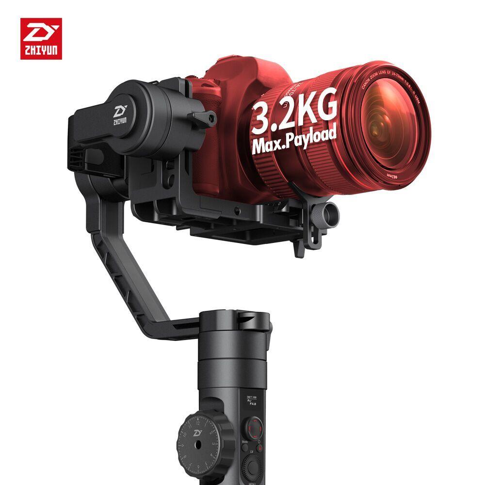 Neueste Zhiyun Kran 2 3-achsen Hand Gimbal Videokamera Gyro Stabilisator für DSLR mit Schärfen 3,2Kg Nutzlast OLED Display