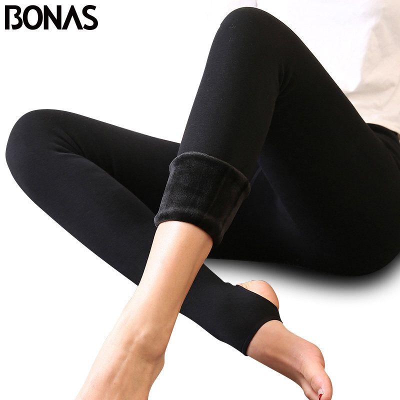 BONAS Velvet Pantyhose Tights Women Autumn Winter Thin Velvet Tights Female High Elastic Waist Warm Pantyhose Hosiery