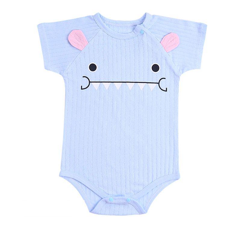Для новорожденных Комбинезоны для малышек унисекс Одежда для младенцев хлопок Рубашка с короткими рукавами Детская Одежда для мальчиков и ...