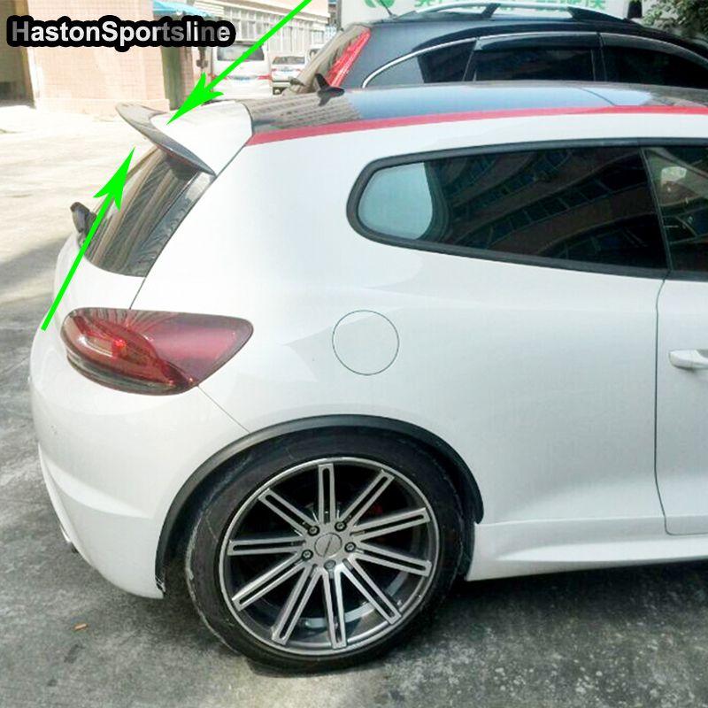 Scirocco R Geändert Haston Stil Carbon Fiber Hinten Dach Lip Spoiler Auto Flügel für Volkswagen Scirocco R GTS 2009- 2013