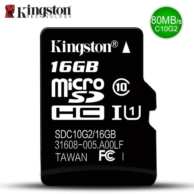 Kingston Micro Sd Memory Card 16GB Class10 carte sd 32gb SDHC sdxc TF sd Card cartao de Memoria 16g c10 For Smart Mobile phone
