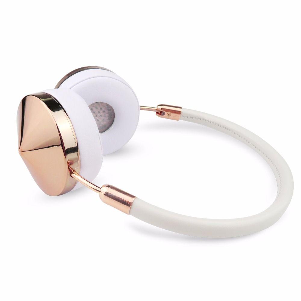 Casque d'écoute sans fil Bluetooth or Rose avec Microphone élégant casque d'écoute pour femmes fille Liboer BT88