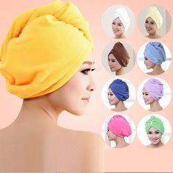 Femmes Salle De Bain Super Absorbant À séchage Rapide Serviette de Bain En Microfibre Cheveux Secs Cap Salon Serviette
