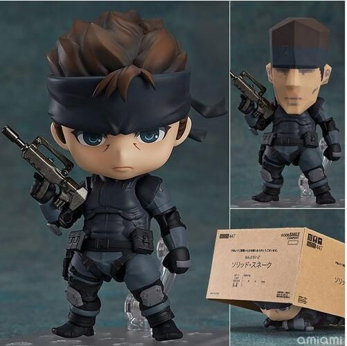 Nendoroid Metal Gear Solid SONS OF LIBERTY 447 Solid Snake Cartoon Anime Action Figure PVC Collection toys for christmas gift