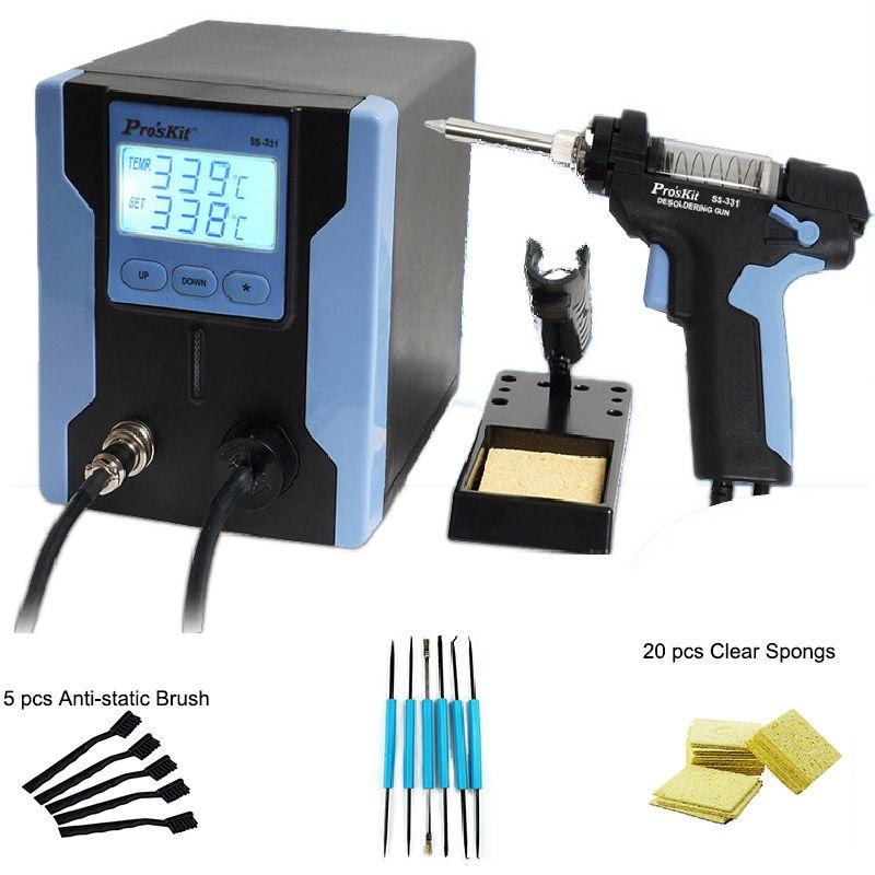 90 watt Entlöten Gun Elektro absorbieren pistole Vakuum Entlötpumpe Solder Sucker Gun Für PCB Leiterplatten Reparatur Mit Werkzeuge