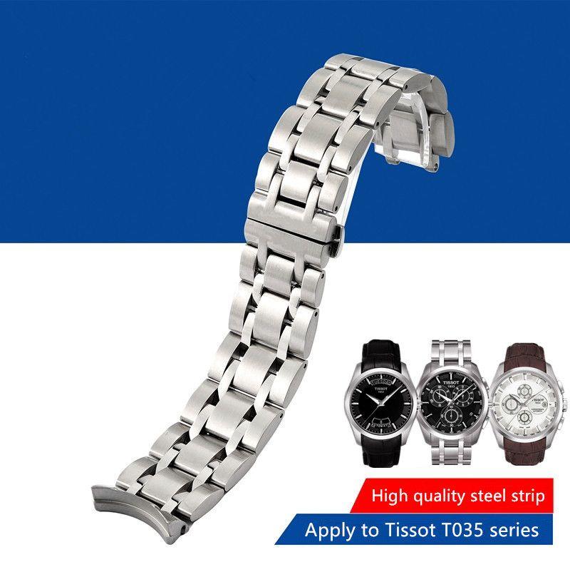 Bracelet en acier inoxydable Durable pour 1853 T035 T035617 T035439 T035407 T035627A Bracelet de montre homme 22/23/24mm + outils d'installation