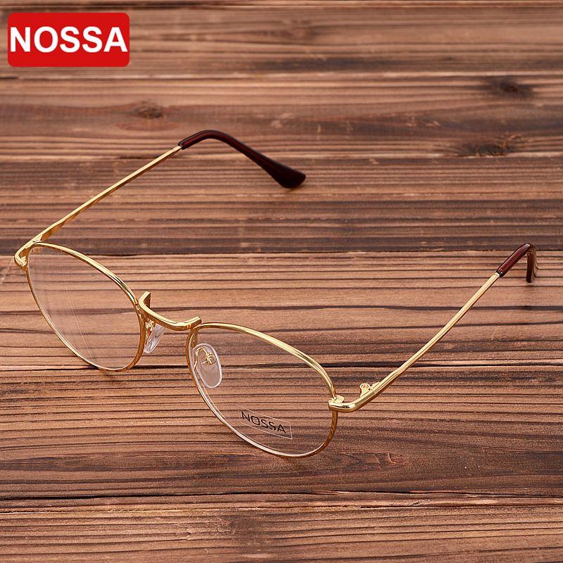 Or Vintage lunettes cadre femmes hommes rétro rond métal lunettes cadre Bronze myopie lunettes classique lunettes