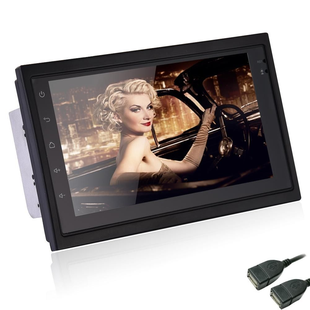 For Universa Ultrathin 7 Inch 2DIN Bluetooth WIFI Navigator Radio MP5 Audio Player GPS Reversing Camera RDS Quad-core Android6.0