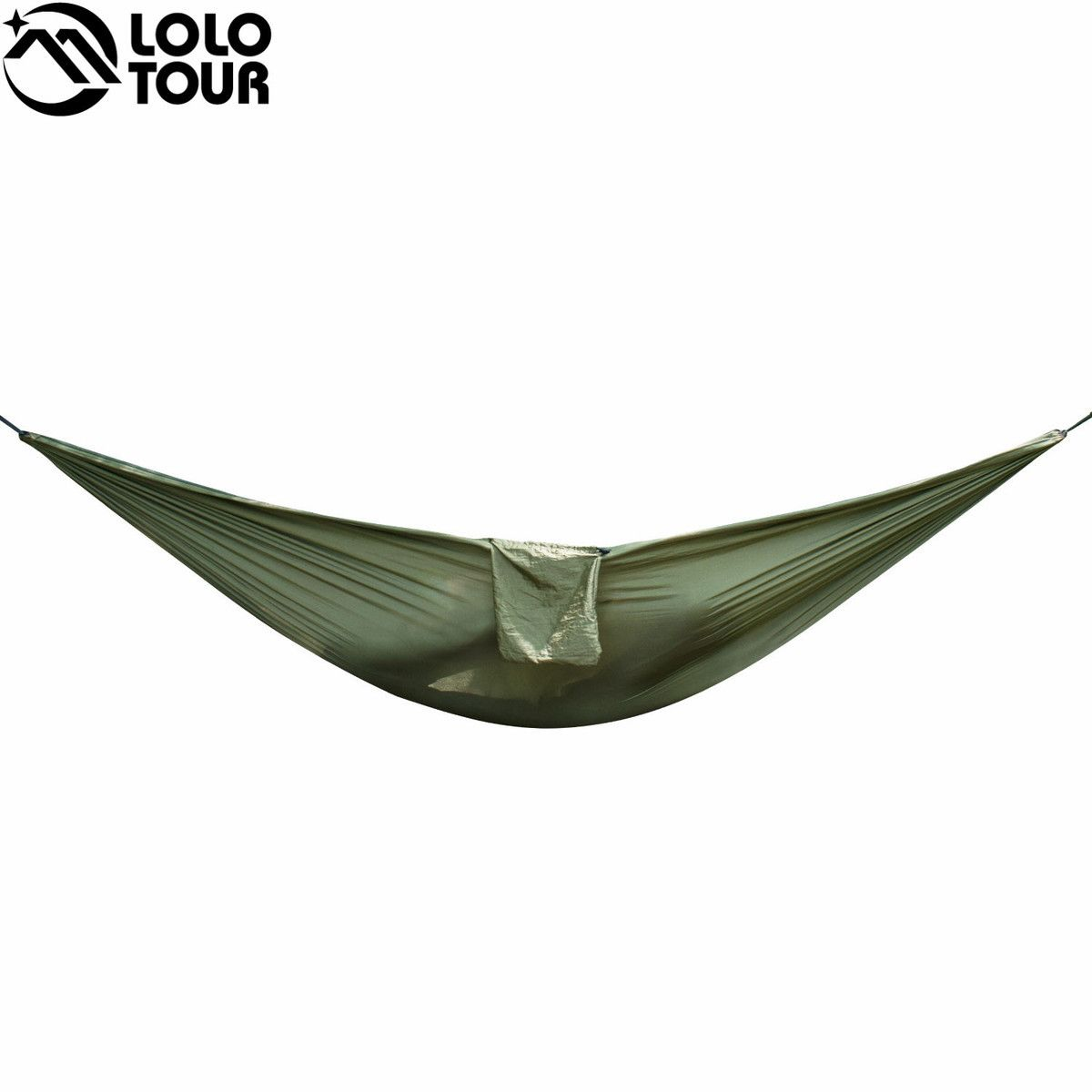 Portable Nylon Cloth Multifunction Camping Hammock Double Outdoor Hamac Sleeping Hamak Garden Hamaca With Carabiner And Ropes
