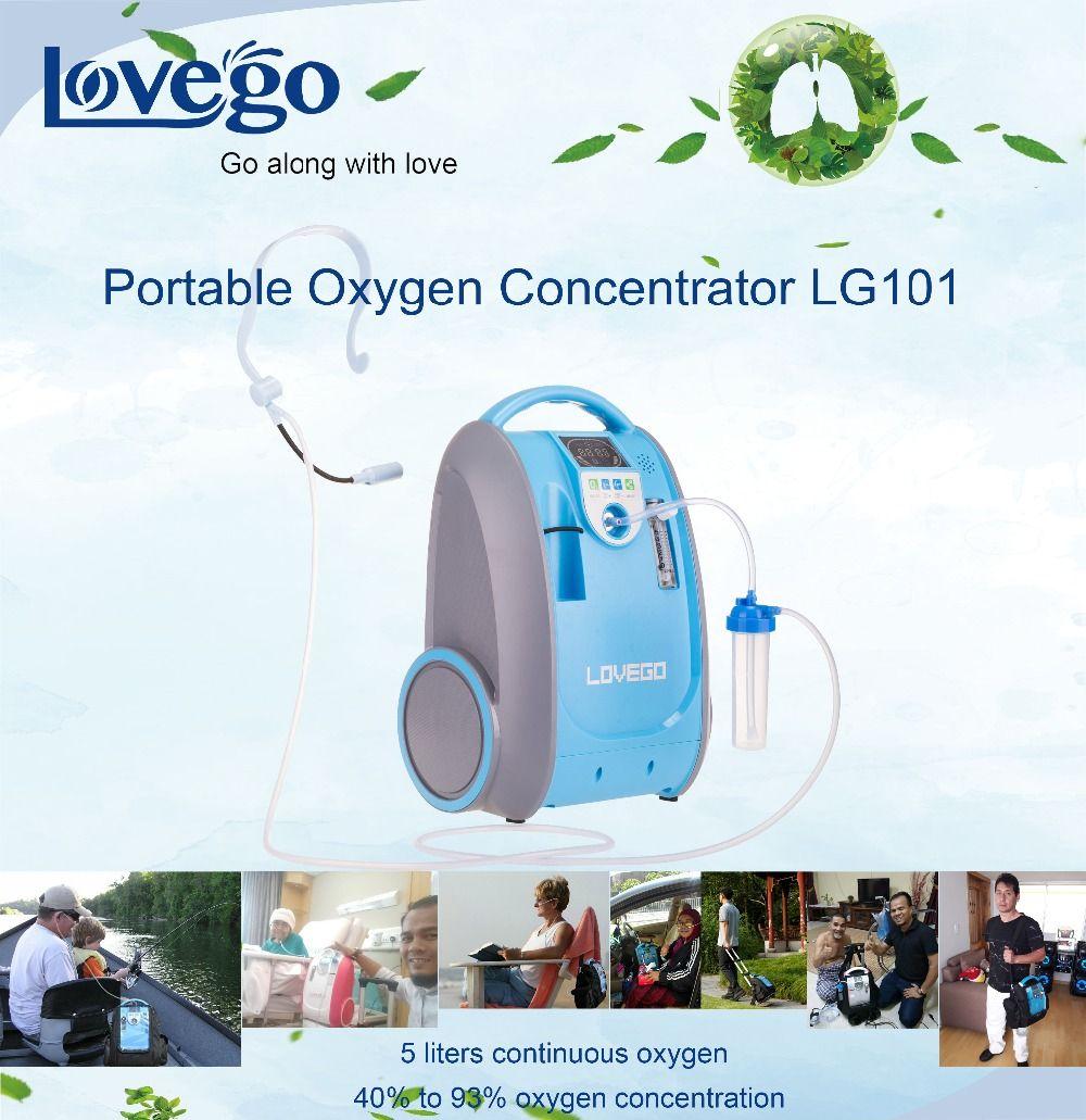 Zwei Jahre Garantie 1-5LPM Lovego tragbaren sauerstoff konzentrator/sauerstoff generator/mini konzentrator LG101 für home/reise/ auto verwenden
