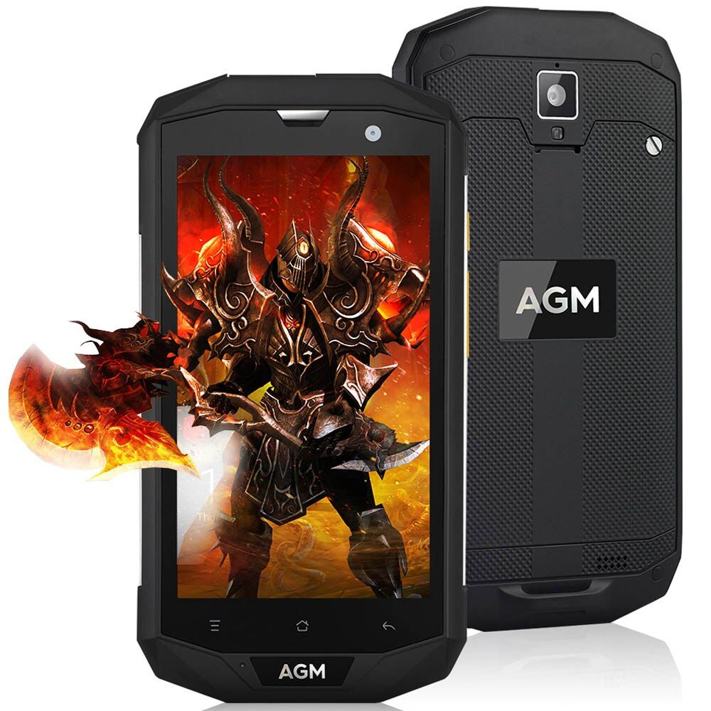 Original AGM A8 4G IP68 Waterproof Smartphone Android 7.0 5.0 inch MSM8916 Quad Core 1.2GHz 3G+32G 13.0MP 4050mAh Battery Phone