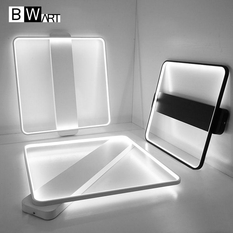 BWART Nueva Llegada Negro Blanco luz de Techo Para la Sala de Estudio Dormitorio Minimalista LED De Aluminio Moderna lámpara de Techo Llevada