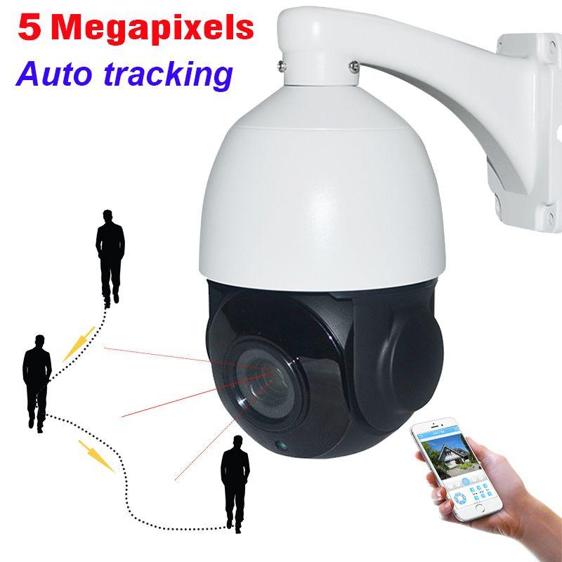 IP66 Outdoor CCTV 5MP Auto Tracking PTZ Kamera High Speed 5 Megapixel Netzwerk H.265 IP Kamera IR Auto Tracker 30X ZOOM IP66 P2P