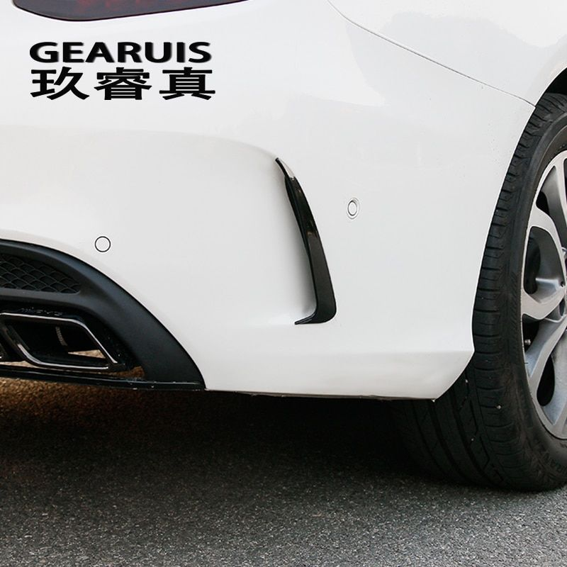 Car styling Rear Side Mirror body Stickers Covers Trim decorative For Mercedes Benz C Class W205 C180 C200 auto Accessories