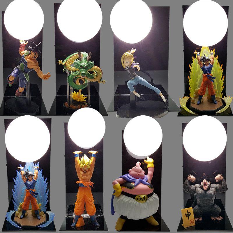 Dragon Ball Сон Гоку дух бомбы настольная лампа Luminaria Светодиодные ночники Dragon Ball Номер Декоративные освещения праздничные подарки