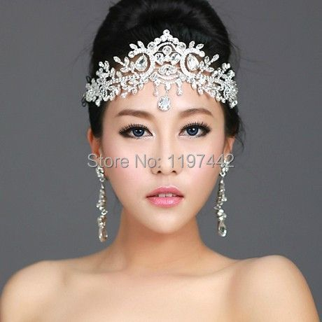 2018 hot sale bridal Hairbands Crystal Headbands women Hair Jewelry Wedding accessories crystal Tiaras And <font><b>Crowns</b></font> Head Chain
