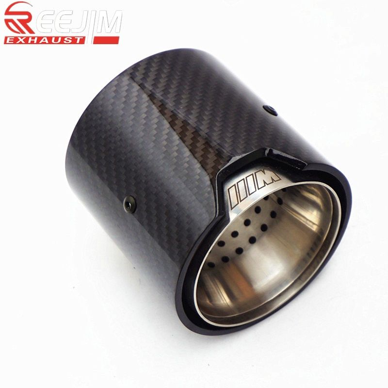 2019 Model Glossy Carbon fiber Exhaust Tip for BMW MPerformance 235i 240i 335i Akrapovic exhaust tip car accessories