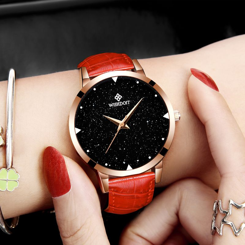 WISHODIT 2018 women watches Fashion dress ladies Watch women Leather Quartz Wrist Watch Relogio feminino girl Clock Montre Femme