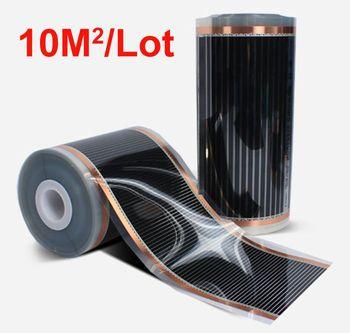Горячая 10m2 пол нагревательные пленки ширина 0,5 м длина 20 м 220VAC температура поверхности 40-50 градусов C безопасность здоровье и экономия энерг...