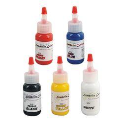 5 pcs warna tato tinta kit, Pigmen makeup permanen pigmen tinta, 30 ml ( 1 OZ ) tinta tato set, Micropigment makeup