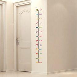 Pengukuran Tinggi anak Stiker Dinding Bawah Hewan Stiker Dinding untuk Anak-anak Kamar Tidur Dekorasi Rumah Dinding Art Decals