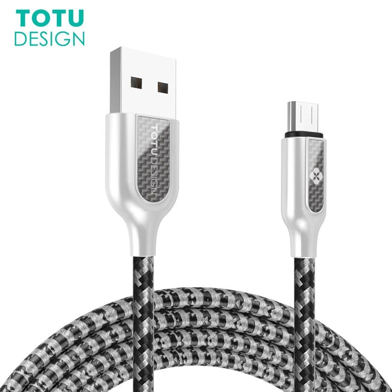 TOTU Micro USB Cable For Samsung Xiaomi Huawei Android Phones Fast Charging Cord Data Sync USB Microusb Mini Cable For Sony HTC