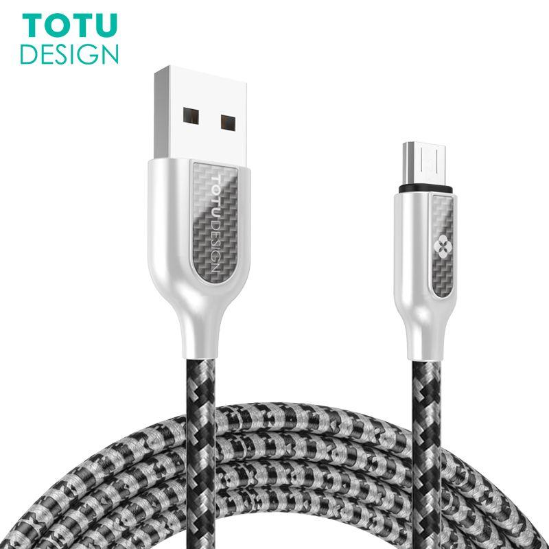 TOTU Micro USB Câble Pour Samsung Xiaomi Huawei Android Téléphones Rapide de charge Cordon Data Sync USB Microusb Mini Câble Pour Sony HTC