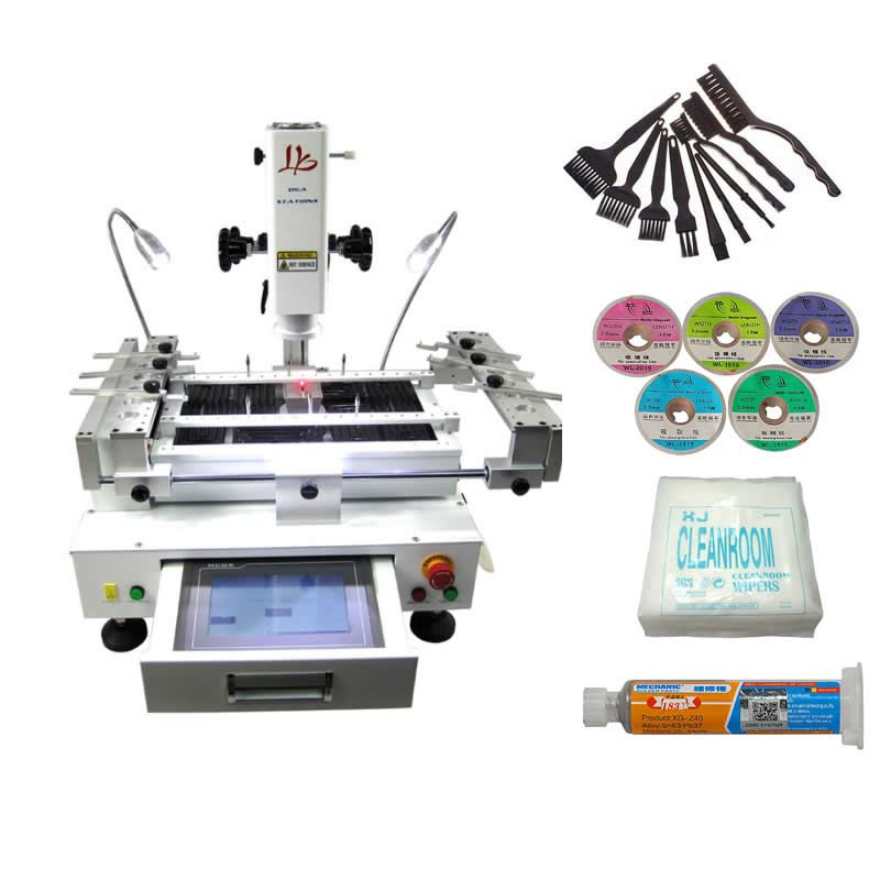 touch screen BGA Rework Station 3 zones hot air with laser point R690 V.2 with laser point